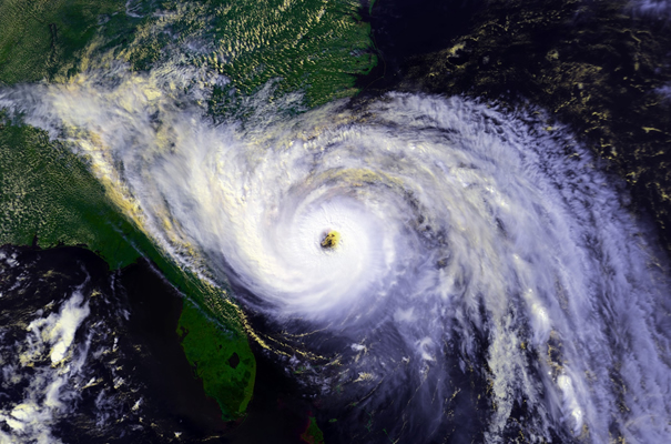 Hurricane Hugo approaches the South Carolina coast in this satellite photo taken on September 21, 1989. (Photo credit: NOAA)